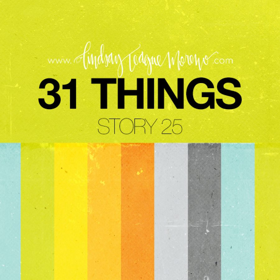 31 Things Lindsay teague moreno scrapbooking